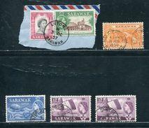 SARAWAK POSTMARKS INCLUDING USED ABROAD AUSTRALIA QUEEN ELIZABETH - Sarawak (...-1963)