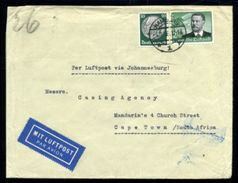 GERMANY 1935 AIRMAIL TO SOUTH AFRICA - Germany