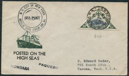 MOZAMBIQUE TRIANGULAR SNAKE USED ABROAD MOMBASA KENYA PAQUEBOT 1938 - Mozambique