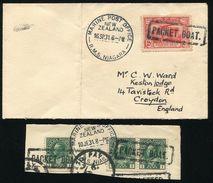 NEW ZEALAND SEA POST RMS NIGAGRA ON AUSTARIA CANADA 1931 - New Zealand