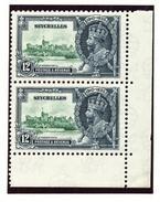 SILVER JUBILEE 1935 - SEYCHELLES CORNER PAIR 12c - Unclassified