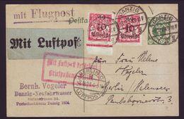 DANZIG 1924 POSTCARD TO BERLIN - Germany