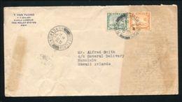 MALAYA SELANGOR FDC 1935 HAWAII HONG KONG - Great Britain (former Colonies & Protectorates)