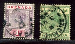 GRENADA RARE VILLAGE POSTMARKS INCLUDING CARRIACOU QV KG5 - Grenada (...-1974)