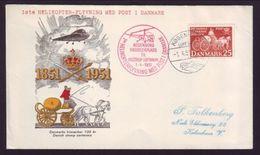 DENMARK 1951 HELICOPTER COVER - Denmark