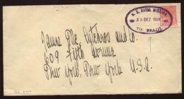 USA 1928 US/BRAZIL NAVAL MISSION COVER - Postal History