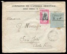 DJIBOUTI FRENCH AFRICA REGISTERED TO COSTA RICA - Somalia (1960-...)