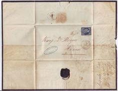 GREECE 1867 MOURNING COVER 'ATHENS-ZANTE - Greece