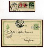 DENMARK SHIPPING FRA RONNE 1907 STATIONERY - Denmark