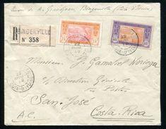 IVORY COAST AMAZING REGISTERED COVER TO COSTA RICA 1919 - Ivory Coast (1960-...)