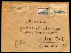 GREECE 1928 ETOLIKON REGISTERED TO COSTA RICA - Greece