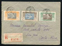 IVORY COAST AMAZING REGISTERED COVER TO COSTA RICA - Ivory Coast (1960-...)