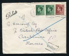 MOROCCO BRITISH & FRENCH P.O. CASABLANCA EDWARD 8TH - Morocco (1956-...)
