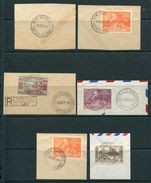 NEW HEBRIDES ISLAND POSTMARKS UPU CANOES PALM TREES - Unclassified
