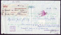GB PERFIN YEMEN ADEN COMBINATION BANKDRAFT 1969 - 1952-.... (Elizabeth II)
