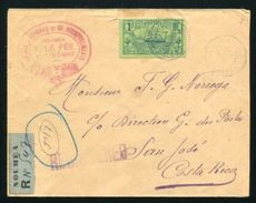 NEW CALEDONIA AMAZING REGISTERED COVER TO COSTA RICA - Europe (Other)