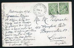 GB BIRMINGHAM SHIP LETTER KG5 1916 US PAQUEBOT - 1902-1951 (Kings)