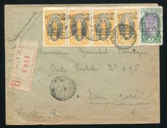 FRENCH AFRICA CONGO BRAZZAVILLE REG. TO COSTA RICA 1919 - Europe (Other)
