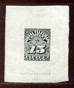 USA DIE PROOF POSTAL TELEGRAPHY STAMP 1885 - United States