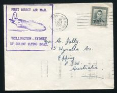 NEW ZEALAND / AUSTRALIA FLYING BOAT COVER 1950 - New Zealand