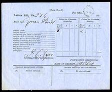 TASMANIA 1876 LETTER BILL FROM BRIGHTON - 1853-1912 Tasmania