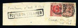 SIERRA LEONE / GB MARITIME COMBINATION PIECE - Sierra Leone (...-1960)