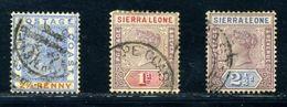 SIERRA LEONE/GOLD COAST USED ABROAD - Sierra Leone (...-1960)