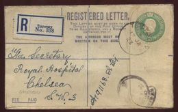 IRELAND 1923 REGISTERED EMERALD COVER TIPPERARY TO CHELSEA - Unclassified