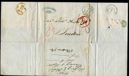 DANZIG 1845 ENTIRE LETTER TO LONDON - Germany