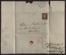IRELAND 1845 'MOUNT KENNEDY' BLUE CANCEL - Unclassified