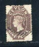 CEYLON QV PENCE STAMP FINE USED 9d - Ceylon (...-1947)