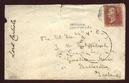 GB ABBEYLEIX SKELETON POSTMARK 1858 COVER TO IRELAND - Postmark Collection