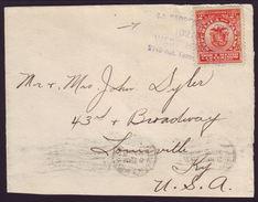 PANAMA SHIP COVER TO USA 1908 - Stamps