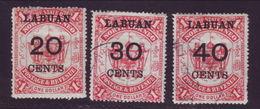 LABUAN 1895 VALUES - SCARCE! - Great Britain (former Colonies & Protectorates)
