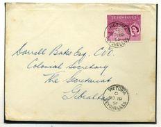 SEYCHELLES 1954 QE2 TO GIBRALTAR - Seychelles (...-1976)