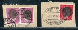 GERMANY OVERPRINT CHEMNITZ 1945 - Germany