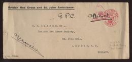 BRITISH RED CROSS BASE COVER - Postmark Collection