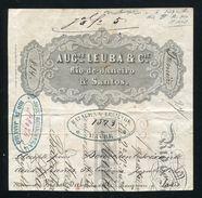 BRAZIL FRANCE ITALY BILL OF EXCHANGE 1871 - Brazil