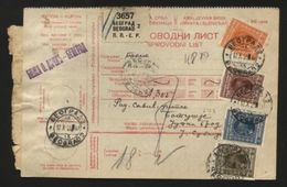SERBIA 'BEOGRAD' PARCEL POST RECEIPT 1929 - Europe (Other)