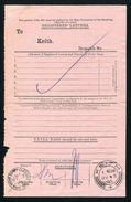 GB SCOTLAND REGISTERED LETETRS RAILWAYS KEITH ABERDEENSHIRE NIGHT MAIL 1905 - Great Britain