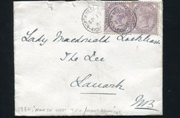 GB SCOTLAND TRAVELLING P.O. RAILWAY 1884 LANARK - Postmark Collection