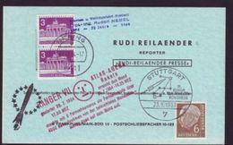 GERMANY ROCKET MAIL 1963/3 POSTCARD - Germany