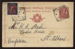 ITALY/CHEMIST/FARMACIA STAMP 1894 POSTCARD - Italy