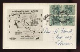 BAHAMAS 1942 'SAN SALVADOR' POSTCARD - Bahamas (...-1973)