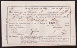 LICHTENSTEIN TRAVELLING POST OFFICE RECEIPT 1853 - Liechtenstein
