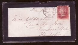 GB 1866 MOURNING/RAILWAYS/TPO COVER/LETTER - Postmark Collection