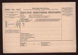 AUSTRIA 1900 INTERNATIONAL PARCEL CARD SPECIMEN OVERPRINT - Austria