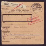 GERMANY PAKETKARTE TO LICHTENSTEIN 1942 - Germany