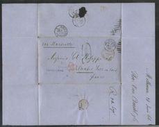 AUSTRALIA 1866 MELBOURNE TO FRANCE - Postmark Collection
