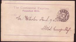 "GERMANY 1892 ""HANSA"" DRESDEN RAILWAY POSTAL STATIONERY - Germany"